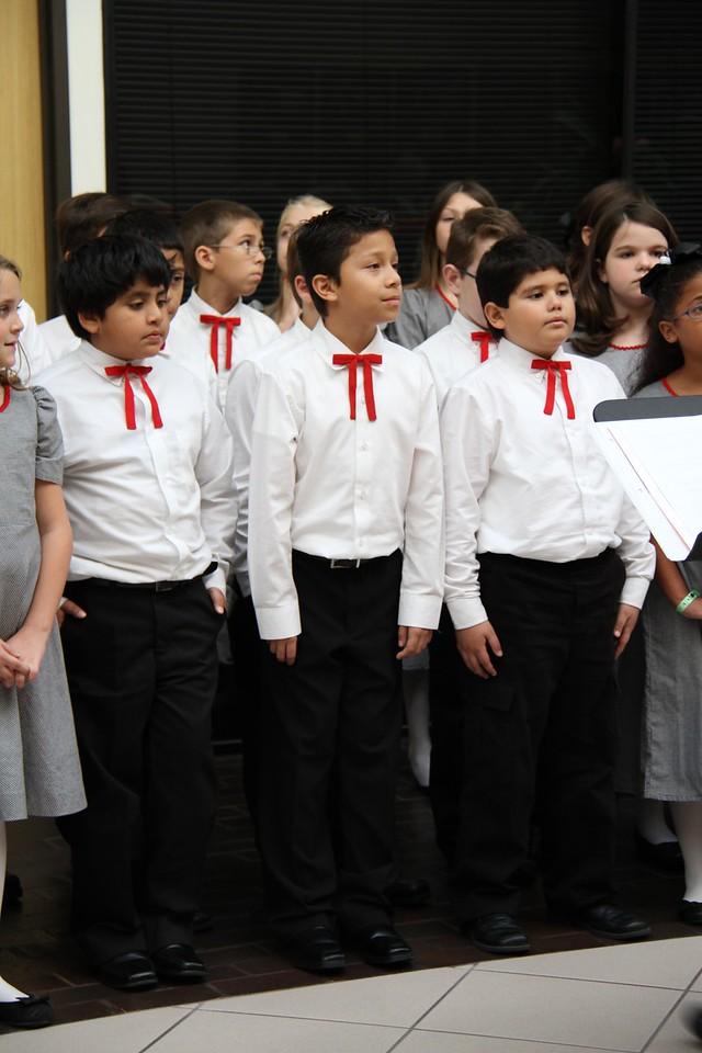 Stephen F. Austin Choir at Administration Building 12/20/2012